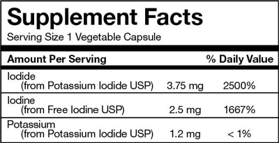I-Throid Supplement Facts - 6.25mg